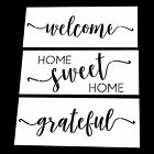 Home Sweet Home Grateful Welcome Stencil Set Home Decor Painting on Wood