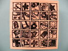 Artsy Tiles Collage CLUB SCRAP Rubber Stamp