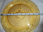 4 Indiana Glass DAISY  AMBER  3 section divided Grill Plates  10 3/8