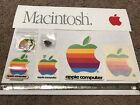 1980s Vintage Lot Of 7 Apple Computer Stickers Pin Keychain Bumper Sticker