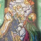 Bucilla Counted Cross Stitch 18 Stocking Kit TIFFANY NATIVITY Rossi 84101 HTF