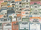 Mixed Lot of 50 Different Stock Certificates and Bonds Various Industries
