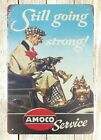 US SELLER- art bedroom wall Still Going Strong Amoco Service tin metal sign