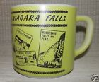 Vintage Federal Glass Coffee Cup Mug Niagara Falls Canada Green Color