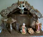 Fontanini 5 Village NATIVITY with JESUS MARY JOSEPH  ANGEL Figurines Used2x