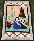 EXCEPTIONAL NATIVE AMERICAN SOUTHWESTERN QUILTED THROW WALL HANGING HAND MADE