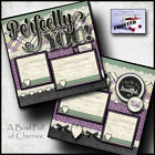 PERFECTLY YOU girl 2 premade scrapbook pages paper piecing layout CHERRY 0058