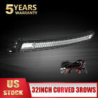 234 Rows 52 42 32 22 Curved Led Light Bar Spot Flood Combo 18w 36w 4 Pods