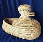 Vintage Native American Indian Southwest Papago Effigy DUCK BASKET Rare Unique