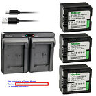 Kastar Battery Dual USB Charger for Panasonic VW VBN130 HC X800 HC X800GK Camera