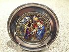 1988 US Historical Stained Glass  Pewter Christmas Plate THE ADORATION