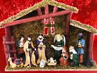 Home Accents Holiday 14 Nativity 13 Pc Set Creche Stable Manger Christmas