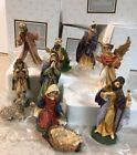 RARE Avon Heirloom Nativity Holy Family Wisemen 3 King Angel Shepherd Jesus 10pc