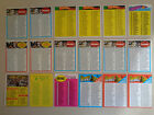 (37) 1961 1967 1969 1971 1972 - 1979 Topps Vintage Football Checklist Cards Lot