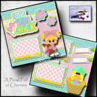 ONE CUTE CHICK 2 premade scrapbook pages EASTER paper piecing GIRL CHERRY 0060