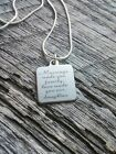 Marriage Made You Family Love Made You Our Daughter Silver Keepsake Necklace