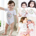US Sister Match Big Little Sister Girl Floral Romper T Shirt Shorts Outfits Hot