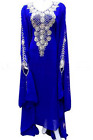 MOROCCAN BLUE DUBAI KAFTANS ABAYA DRESS VERY FANCY LONG GOWN MS10199