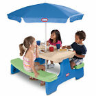 Little Tikes Boys Girls Play Ground Set Easy Store Picnic Table with Umbrella