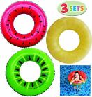 Swim Tube Raft Inflatable With Summer Fruits Painting Pool Toys Party Decoration
