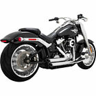 Vance  Hines Chrome Staggered Shortshots Exhaust 2018 19 Harley Softail FXBR