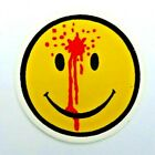 Smiley Face Bullet Hole Sticker Have A Day 21 2 x 21 2 Round Helmet Sticker