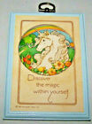 Vintage 1983 Hallmark Unicorn Plaque Discover the Magic within Yourself