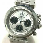 Cartier Pasha C Chronograph W31048M7 Automatic Boy's Watch Working Used Ex++
