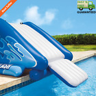 Inflatable Play Swimming Pool Water Slide Splash Diving Heavy Duty Handle Stairs