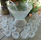 Vintage WEXFORD 19 Piece PUNCH BOWL SET  by ANCHOR HOCKING GLASS Co.