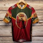 Vintage Louis Garneau REI Cycling Jersey Men L Red Green Retro MTB Mountain Bike