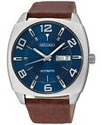 Seiko Recraft Automatic Blue Dial Brown Leather Strap Men's Watch SNKN37