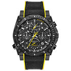 Bulova Precisionist Mens 98B312 Quartz Chronograph Black Rubber Strap Watch