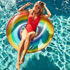 Outdoor Swimming Ring Adult Kids Inflatable Swim Circle Float Tube Pool Toys
