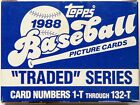 1988 Topps Baseball Traded Series Complete Set 132 Cards