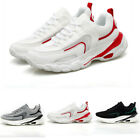Mens Athletic Lace Up Running Comfort Mesh Sport Hiking Leisure Sneakers Shoes