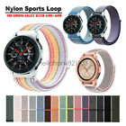 Woven Nylon Sport Loop Wrist Watch Band Strap For Samsung Galaxy Watch 46mm 42mm