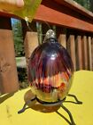 KITRAS ART BLOWN GLASS FEATHER BALL WITH BOX NEVER USED