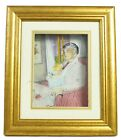 Jean Pierre Weill Father Child Ink 3D Glass Mixed Media Gold Framed Art Painting
