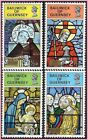 GUERNSEY 1973  QEII Christmas Stained glass Windows MNH sg089 092 880
