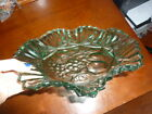 Set of Two Matching Antique Green Glass Pie Plates