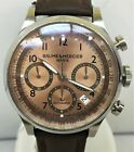 Mens Baume and Mercier Capeland Automatic Chronograph Watch w/ Copper Dial