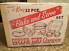 Fire King  Copper Tint Ovenware. Lot# 30