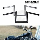 8 Rise Z Bars 1 Handlebars For Harley Sportster XL883 XL1200 Softail Dyna