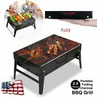 Fold Barbecue Charcoal Grill Stove Stainless Steel BBQ Patio Camping MX