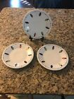 THREE Fiestaware White String of Lights Lunch Plate Fiesta Exclusive 9 in