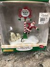 Lemax Village north Pole Sign Polar Bear Penguin- Merry Santa Table Accent 93754