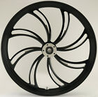 Vortex Black Cut CNC 26 x 35 Dual Disc Front Wheel for Harley Custom Models