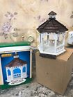 RARE WOOD 2002 LEMAX CHRISTMAS Village Collection Wooden Gazebo - Round  Wood