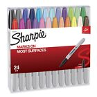 24 SHARPIE PERMANENT MARKERS FINEIN ASSORTED COLORS NEW FREE SHIPPING1756744